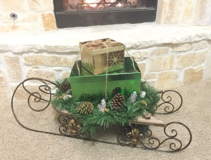 Southern Christmas Sleigh Decor
