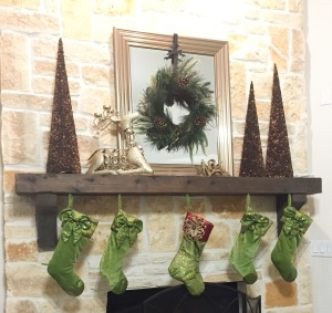 Warm Inviting Christmas Mantel